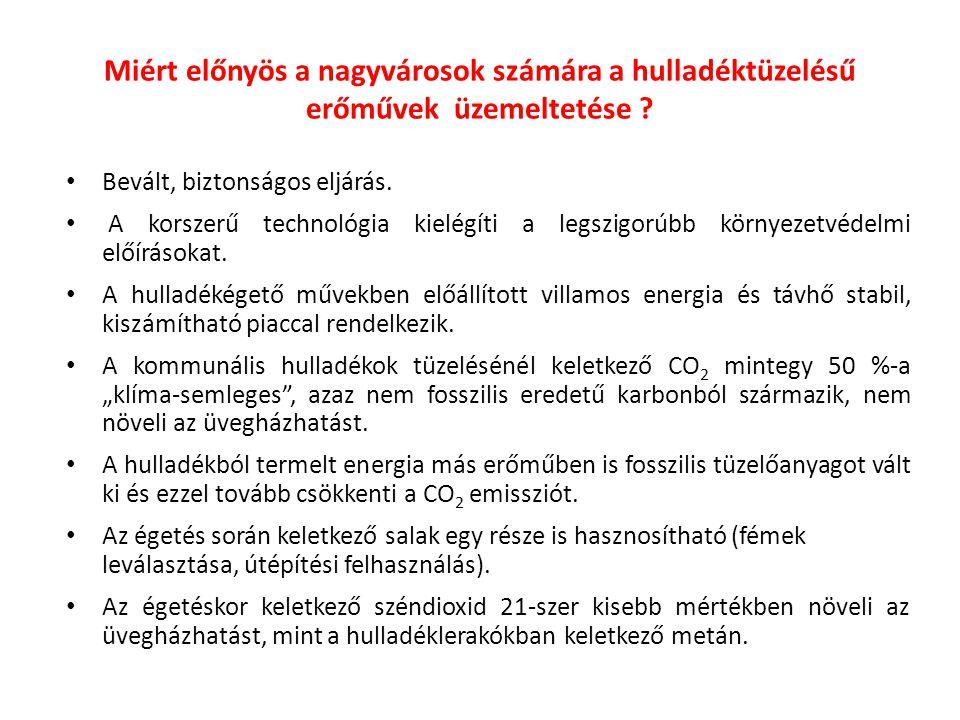 Miért előnyös a nagyvárosok számára a hulladéktüzelésű erőművek üzemeltetése ? Bevált, biztonságos eljárás. A korszerű technológia kielégíti a legszig