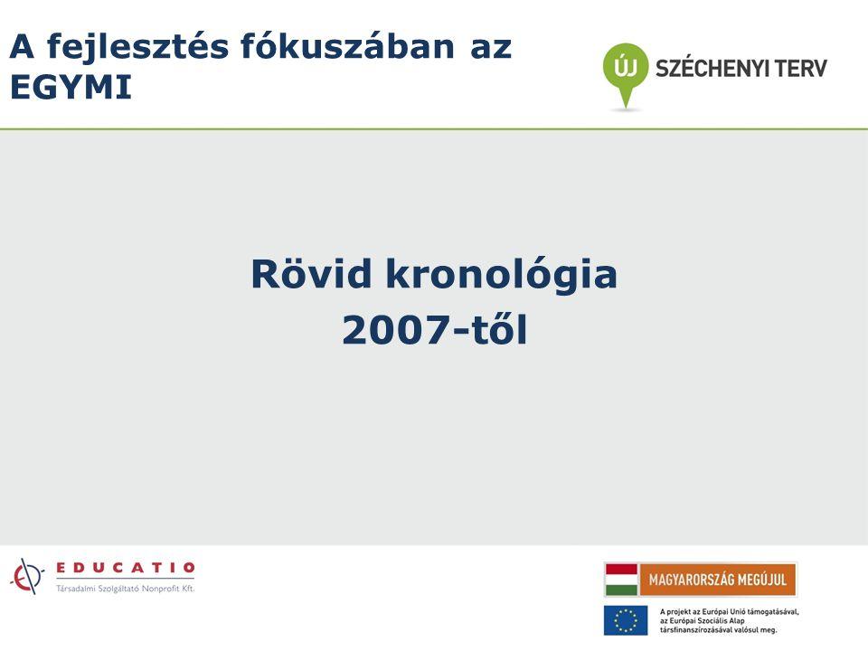 A fejlesztés fókuszában az EGYMI Rövid kronológia 2007-től