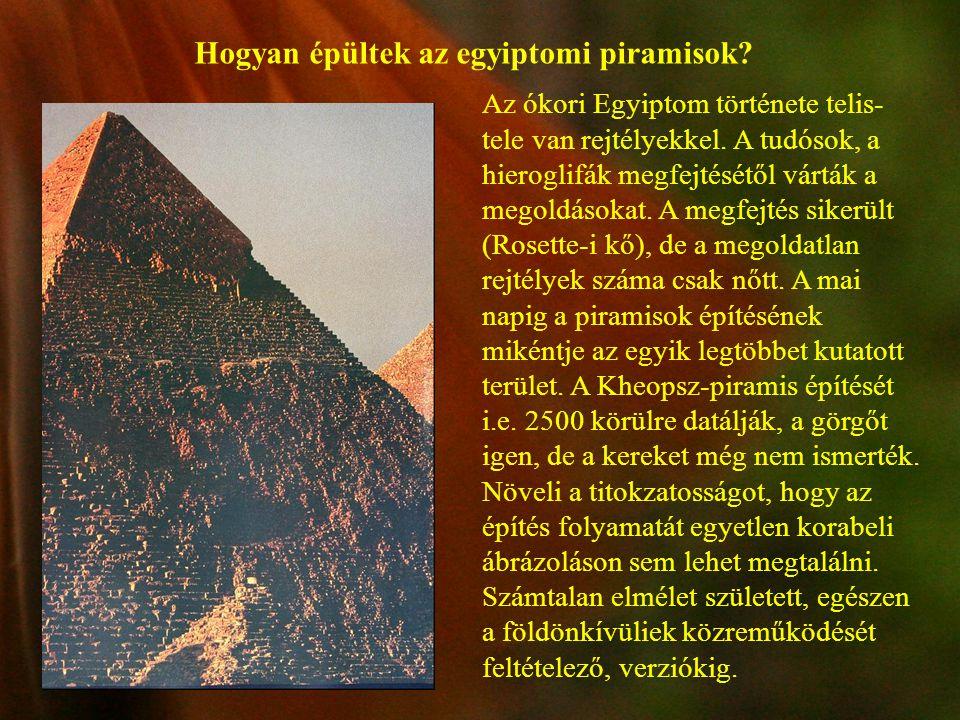 Hogyan épültek az egyiptomi piramisok? Az ókori Egyiptom története telis- tele van rejtélyekkel. A tudósok, a hieroglifák megfejtésétől várták a megol