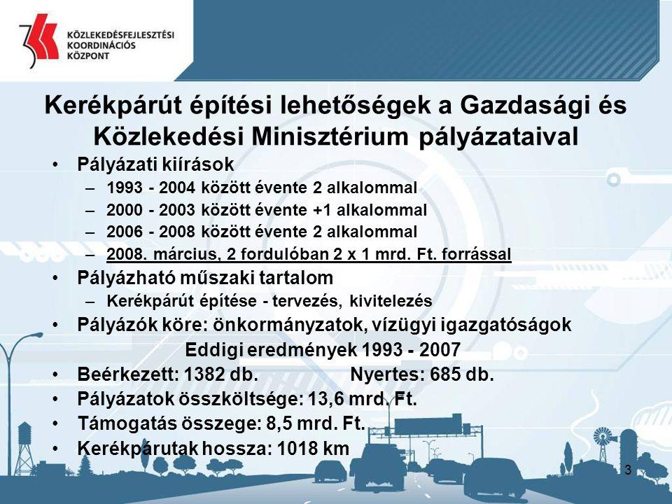 14 Kerékpáros balesetek 2004 - 2007