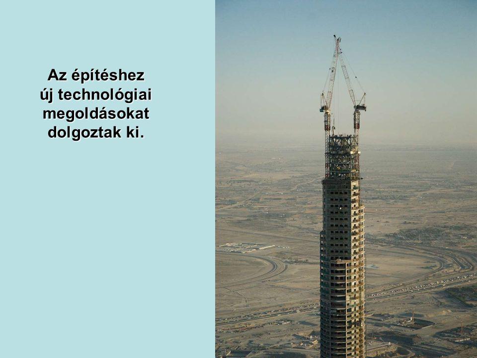A torony építési költsége is rekord, 4,2 milliárd dollár.
