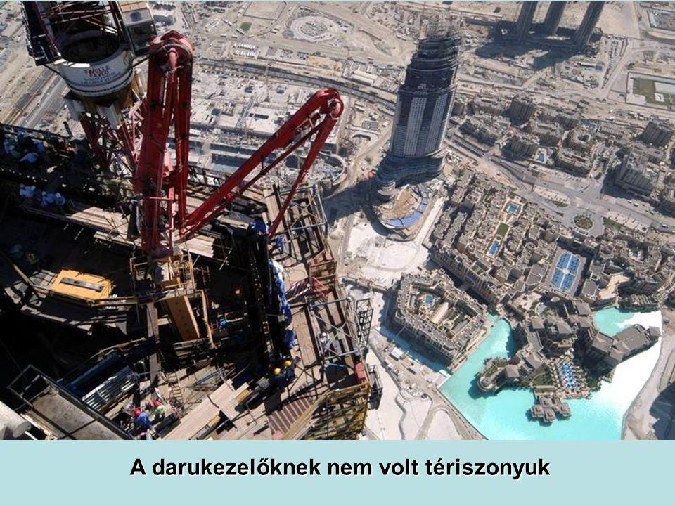 Az építéshez új technológiai megoldásokat dolgoztak ki.