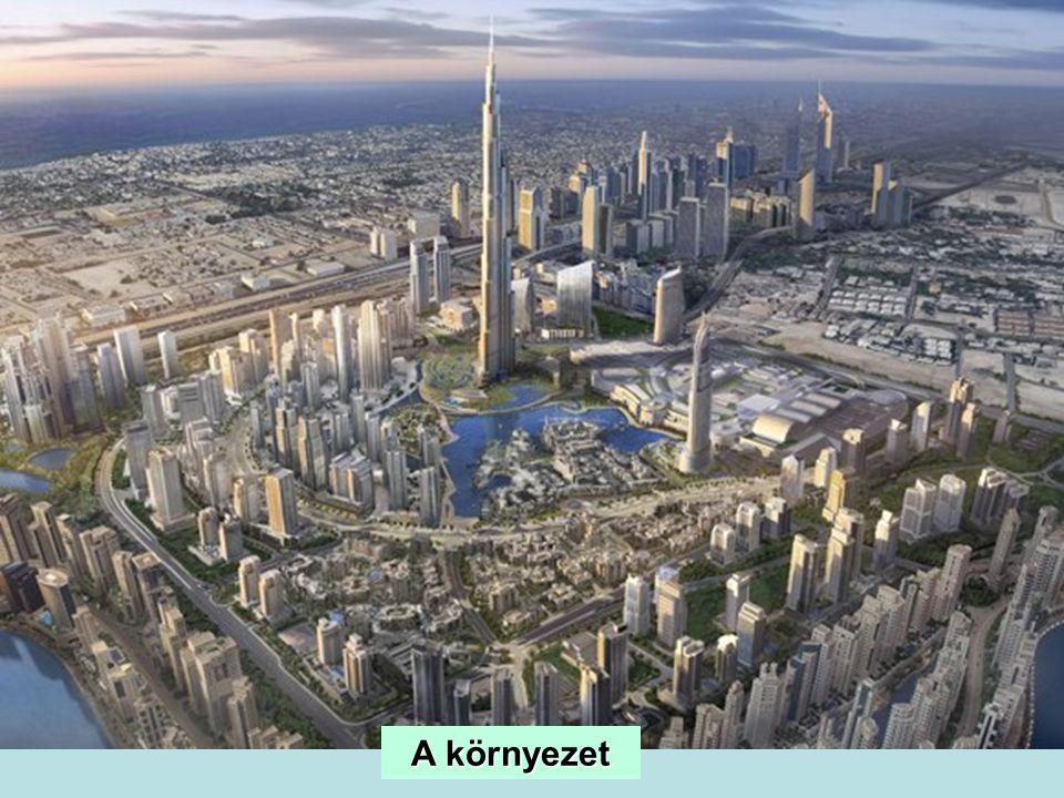 A torony helye Dubaiban