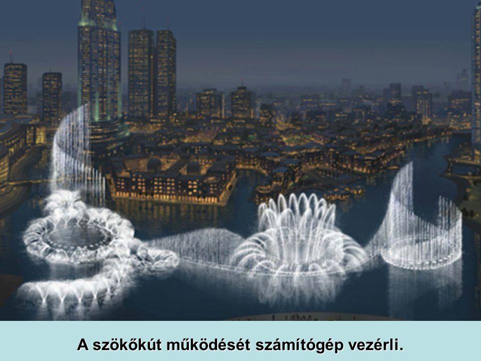 A vízfüggöny 150 m magas, 250 m hosszú