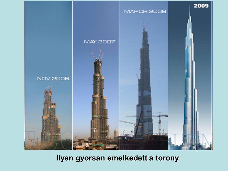 160 emeletével rekordot döntött. 160 emeletével rekordot döntött. A korábbi világrekord 110 emelet volt.
