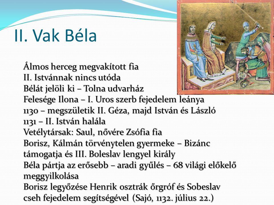 Dalmát politika 1159 – Zára magyar fennhatóság alá helyezi magát Konfliktus Velencével, tengeren támad és visszafoglalja Zárát Géza nem akar Velencével és Bizánccal egyszerre hadban állni 1161 – Bizánccal kötött béke meghosszabbítása Dalmácia és Horvátország királyi hercegség, kisebbik fia Béla kapja