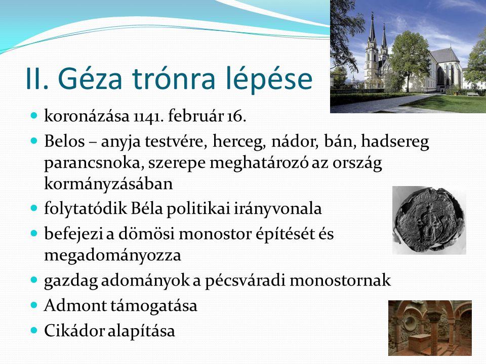 Az első ciszreci monostor 1142 – az alapítás, az első templom már készen van birtokokkal való ellátás, eszéki vám elkezdődik a templom átépítése keresztházas formára királyi temetkezőhelynek szánják építés, díszítés hazai építőműhely, szalagfonatos gyámkövek