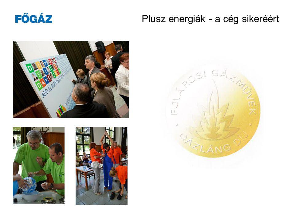 Plusz energiák - a cég sikeréért