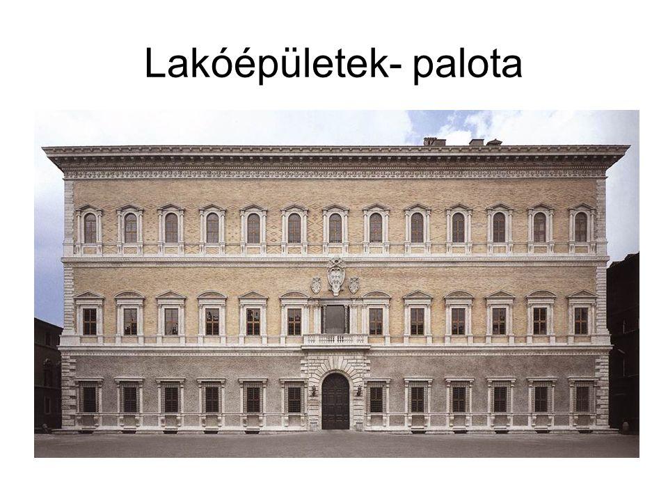 Lakóépületek- palota