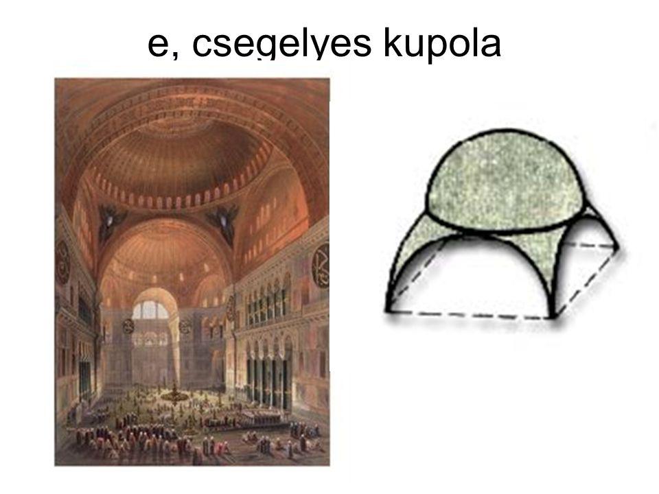 e, csegelyes kupola