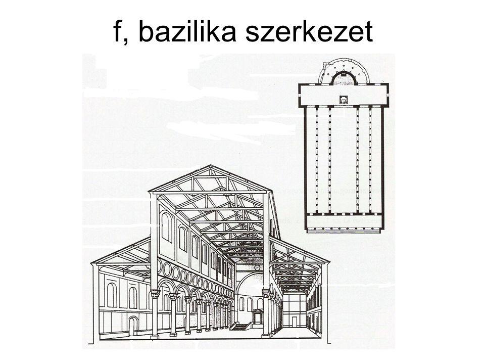 f, bazilika szerkezet
