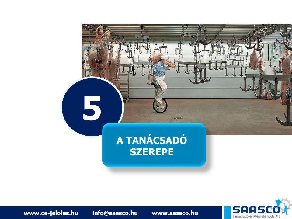 5 A TANÁCSADÓ SZEREPE