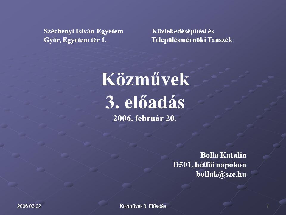 Közművek c.tantárgy 3. előadásának témái 1.Vízigények, A vízszükségletek számítása (I.