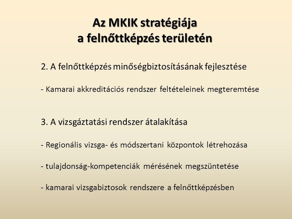 Az MKIK stratégiája a felnőttképzés területén 2.