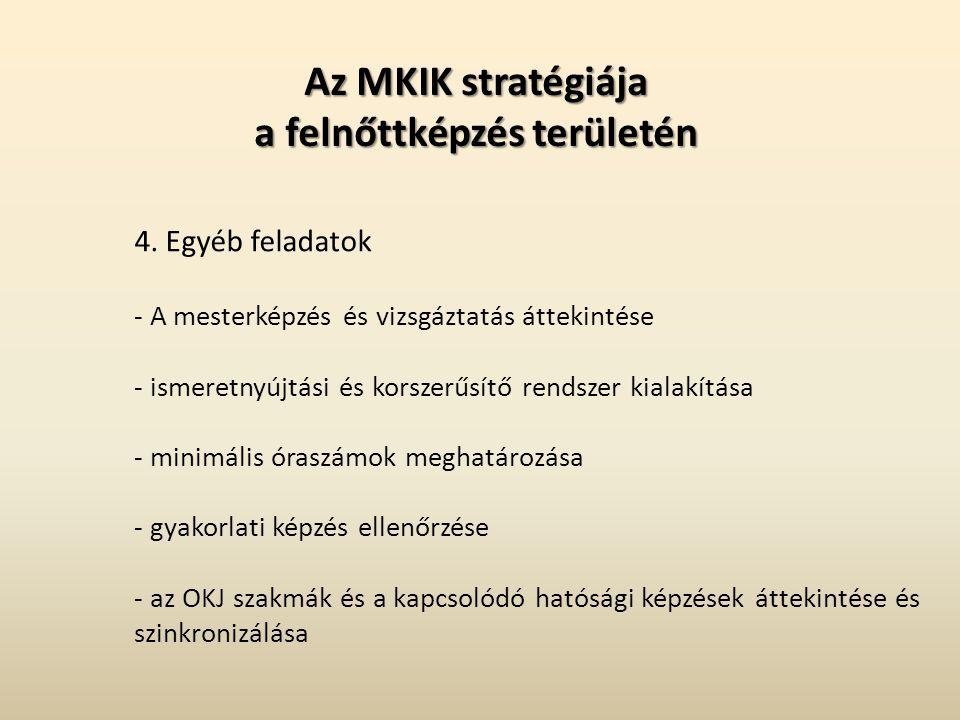 Az MKIK stratégiája a felnőttképzés területén 4.