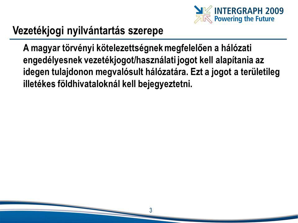3 Vezetékjogi nyilvántartás szerepe A magyar törvényi kötelezettségnek megfelelően a hálózati engedélyesnek vezetékjogot/használati jogot kell alapíta