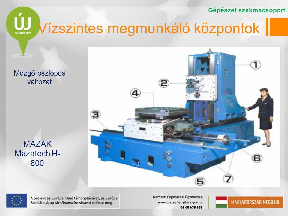 Vízszintes megmunkáló központok MAZAK Mazatech H- 800 Gépészet szakmacsoport Mozgó oszlopos változat