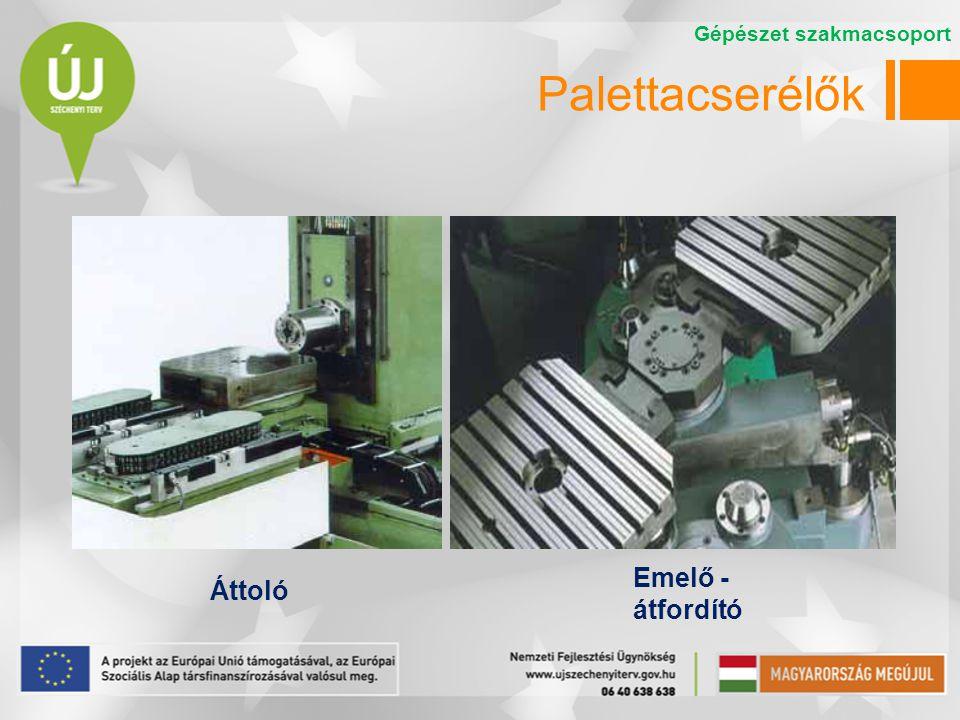 Palettacserélők Áttoló Emelő - átfordító Gépészet szakmacsoport