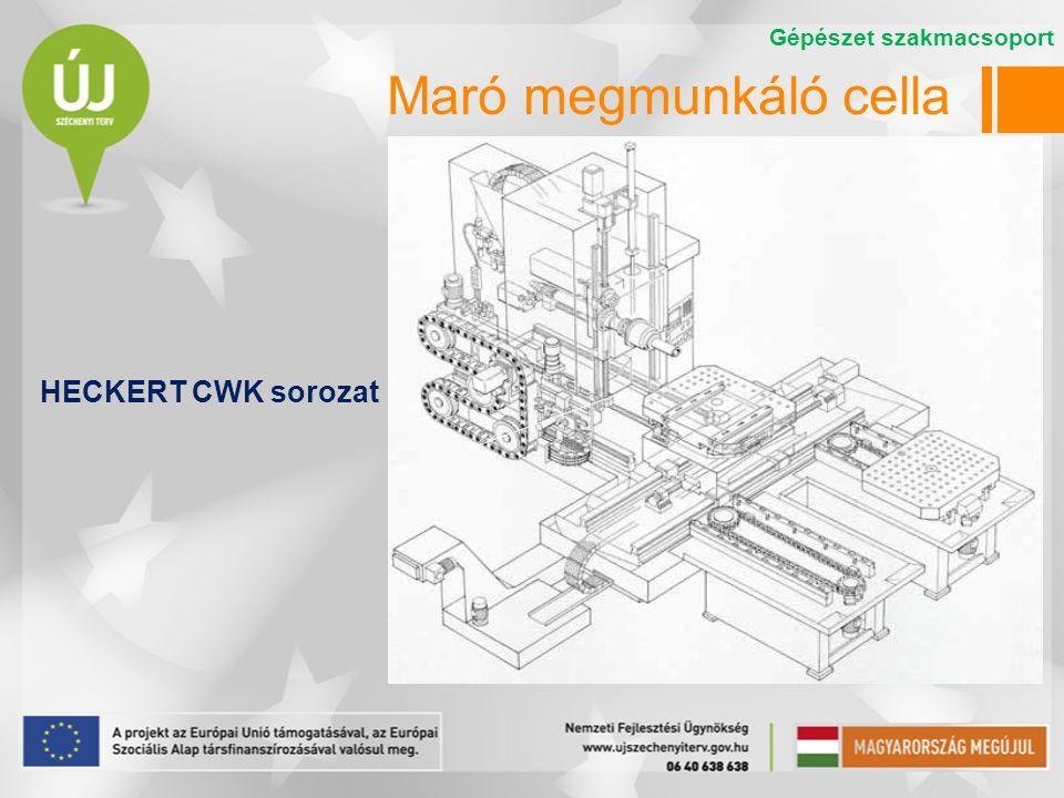 Maró megmunkáló cella HECKERT CWK sorozat Gépészet szakmacsoport