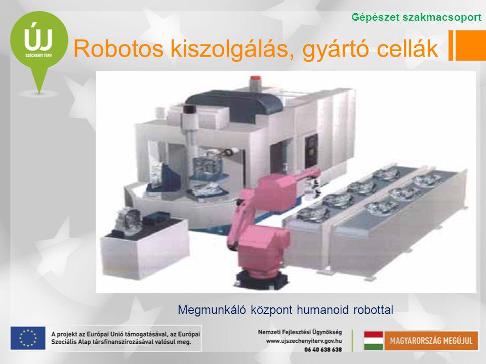 Készítette: Szakács Ibolya Robotos kiszolgálás, gyártó cellák Megmunkáló központ humanoid robottal Gépészet szakmacsoport