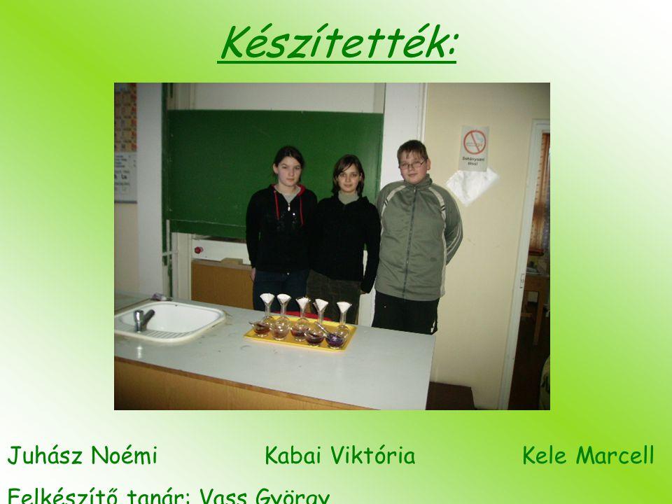 Készítették: Juhász Noémi Kabai Viktória Kele Marcell Felkészítő tanár: Vass György