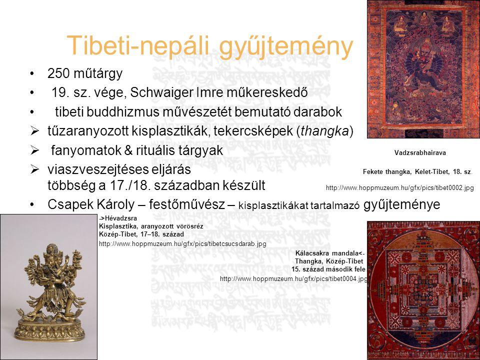 Hausenblasz András Felefedezések az interneten 25 Tibeti-nepáli gyűjtemény 250 műtárgy 19. sz. vége, Schwaiger Imre műkereskedő tibeti buddhizmus művé