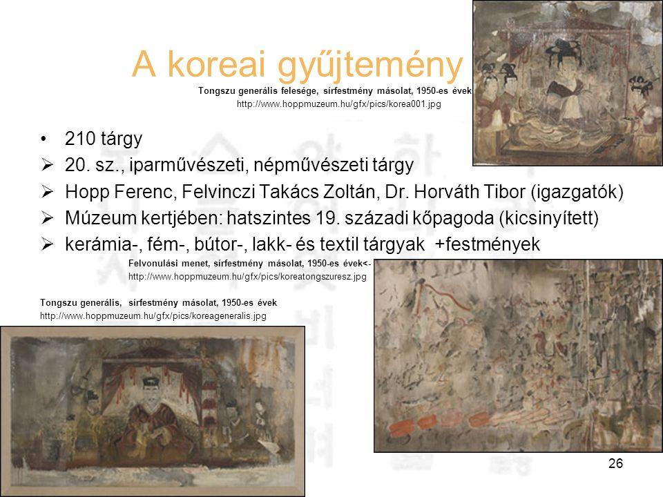 Hausenblasz András Felefedezések az interneten 26 A koreai gyűjtemény Tongszu generális felesége, sírfestmény másolat, 1950-es évek<- http://www.hoppm