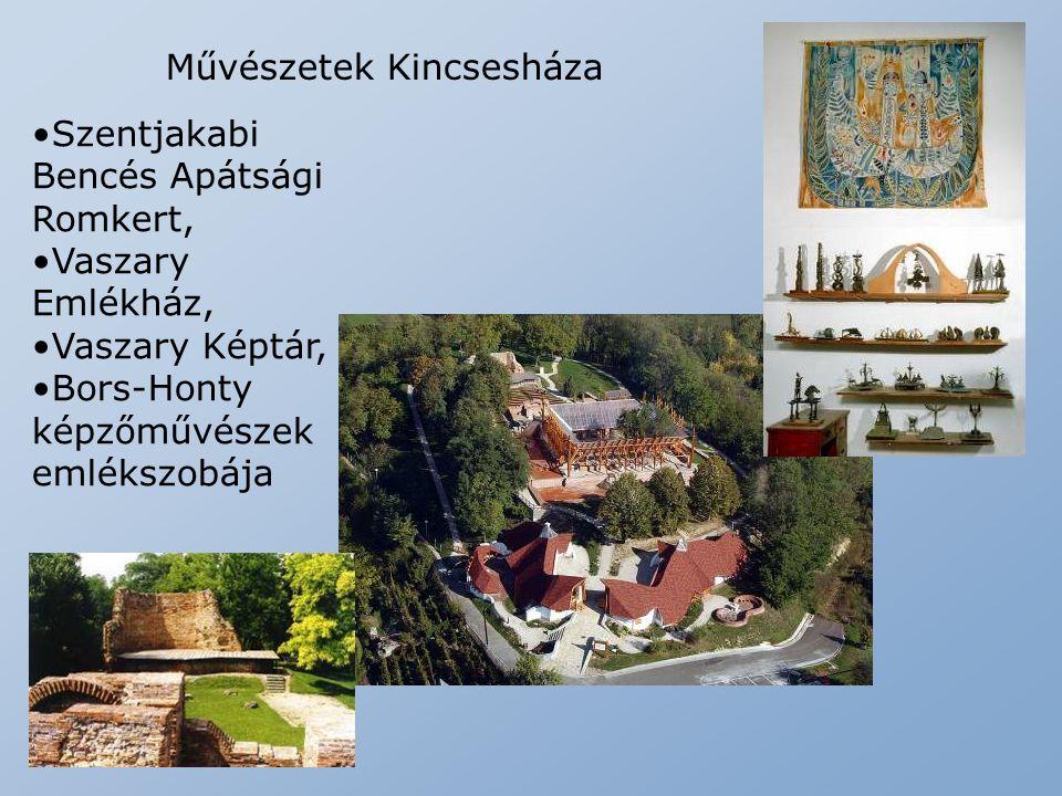 Művészetek Kincsesháza Szentjakabi Bencés Apátsági Romkert, Vaszary Emlékház, Vaszary Képtár, Bors-Honty képzőművészek emlékszobája