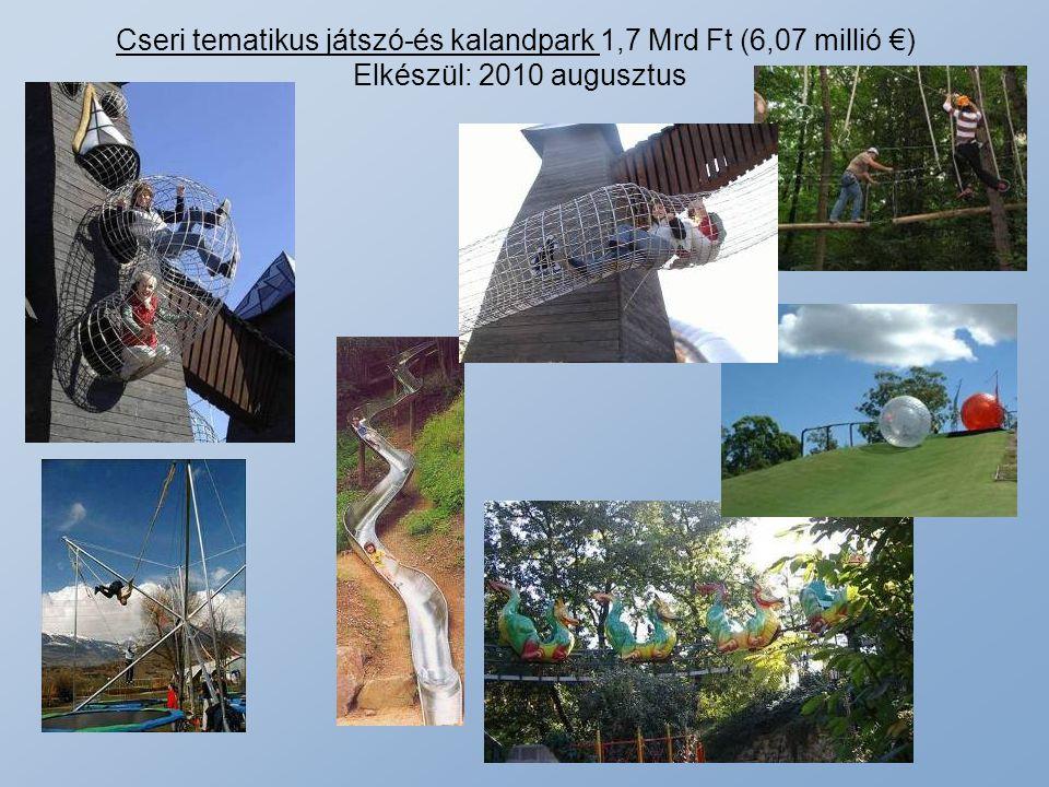 Cseri tematikus játszó-és kalandpark 1,7 Mrd Ft (6,07 millió €) Elkészül: 2010 augusztus