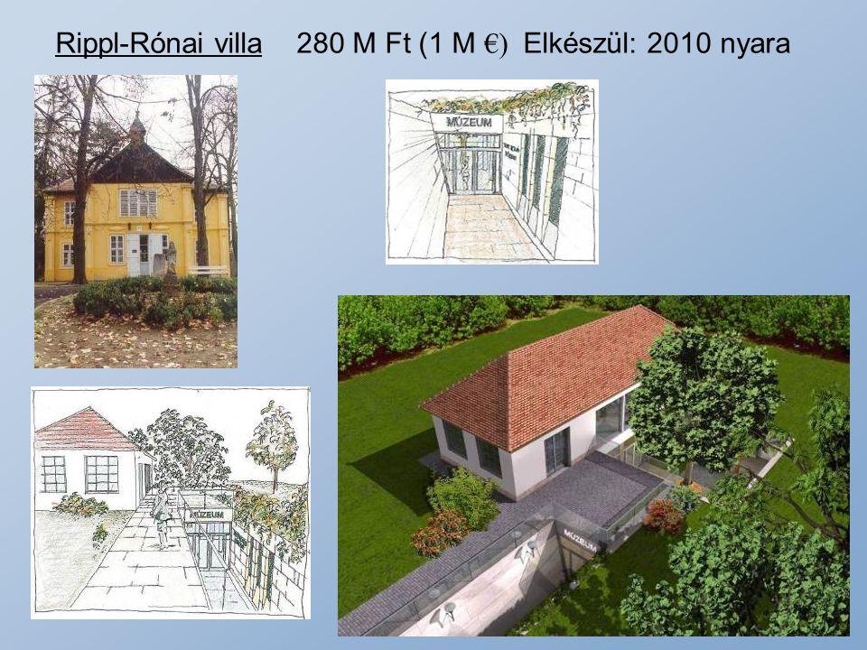 Rippl-Rónai villa 280 M Ft (1 M €) Elkészül: 2010 nyara