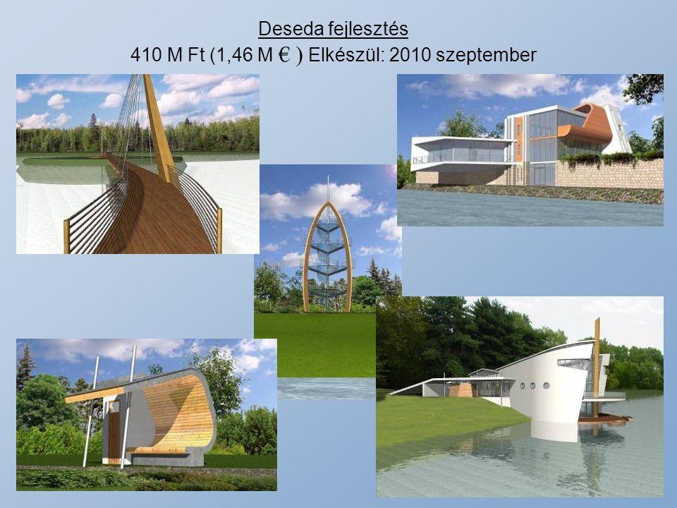 Deseda fejlesztés 410 M Ft (1,46 M € ) Elkészül: 2010 szeptember
