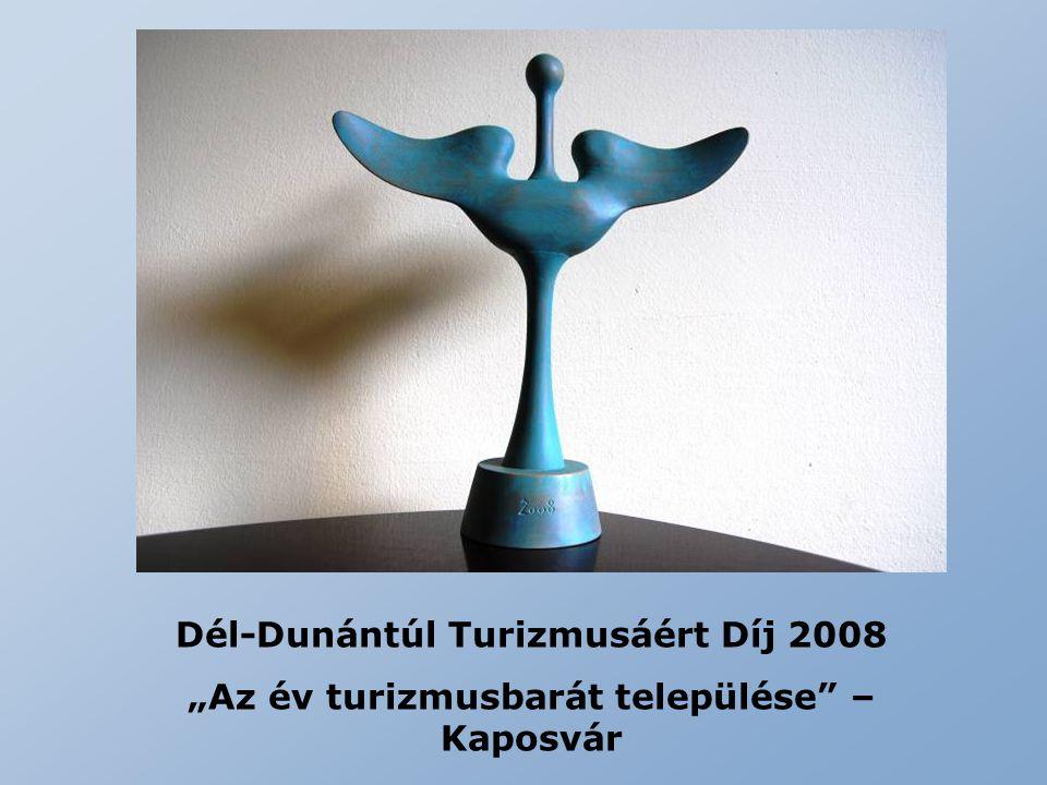 """Dél-Dunántúl Turizmusáért Díj 2008 """"Az év turizmusbarát települése"""" – Kaposvár"""