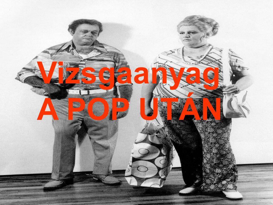 Vizsgaanyag A POP UTÁN