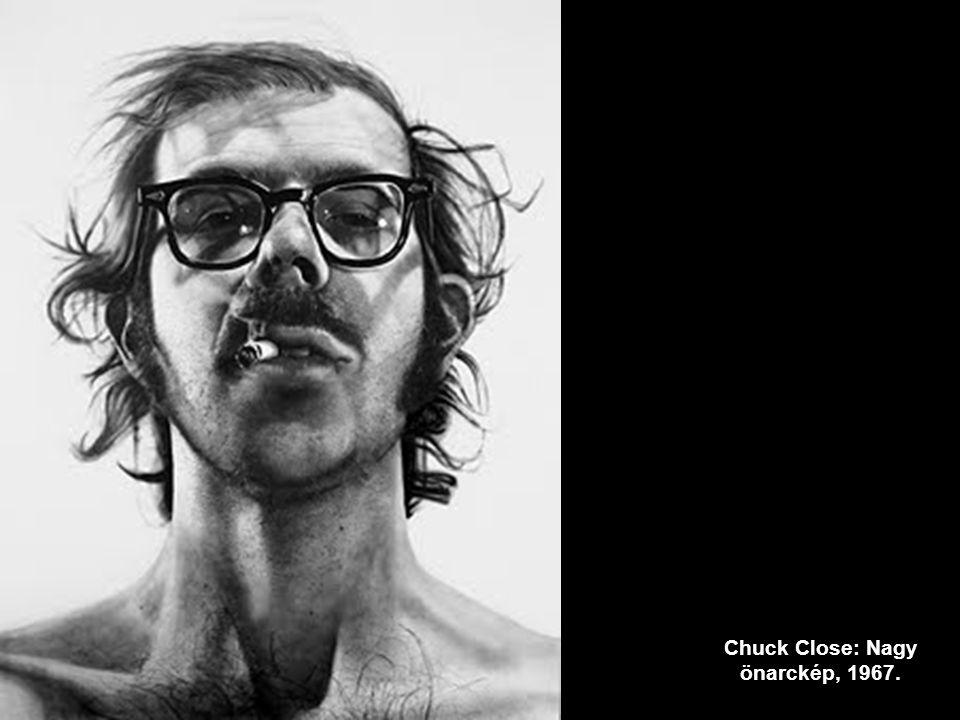 Chuck Close: Nagy önarckép, 1967.