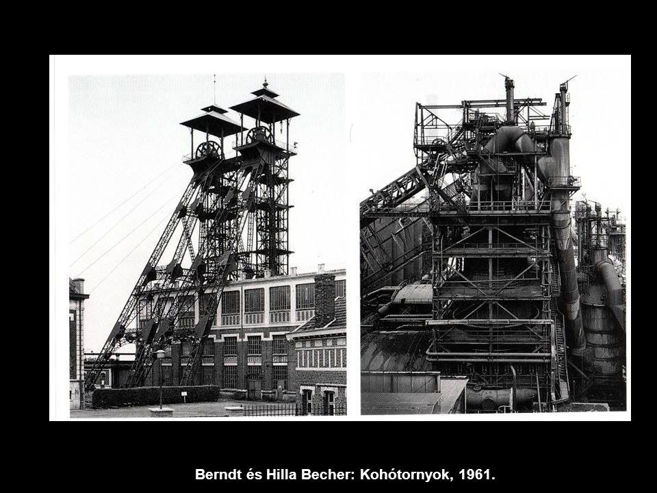 Berndt és Hilla Becher: Kohótornyok, 1961.