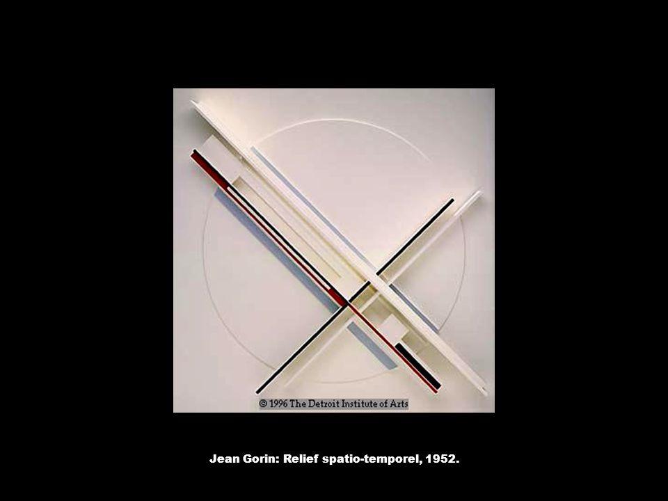 Jean Gorin: Relief spatio-temporel, 1952.