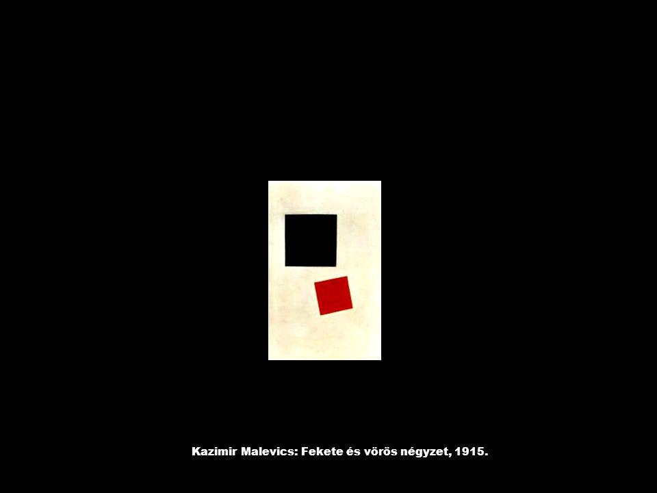 Kazimir Malevics: Fekete és vörös négyzet, 1915.