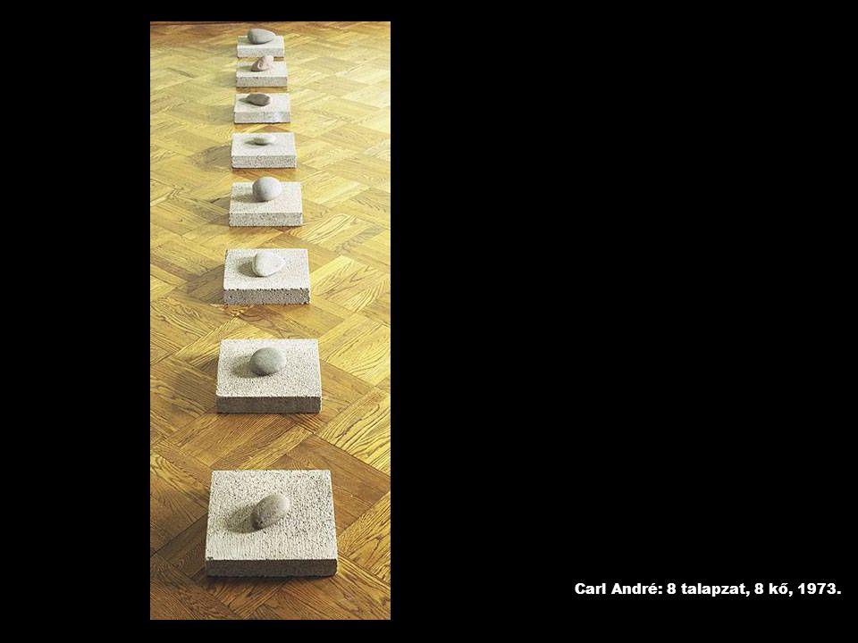 Carl André: 8 talapzat, 8 kő, 1973.
