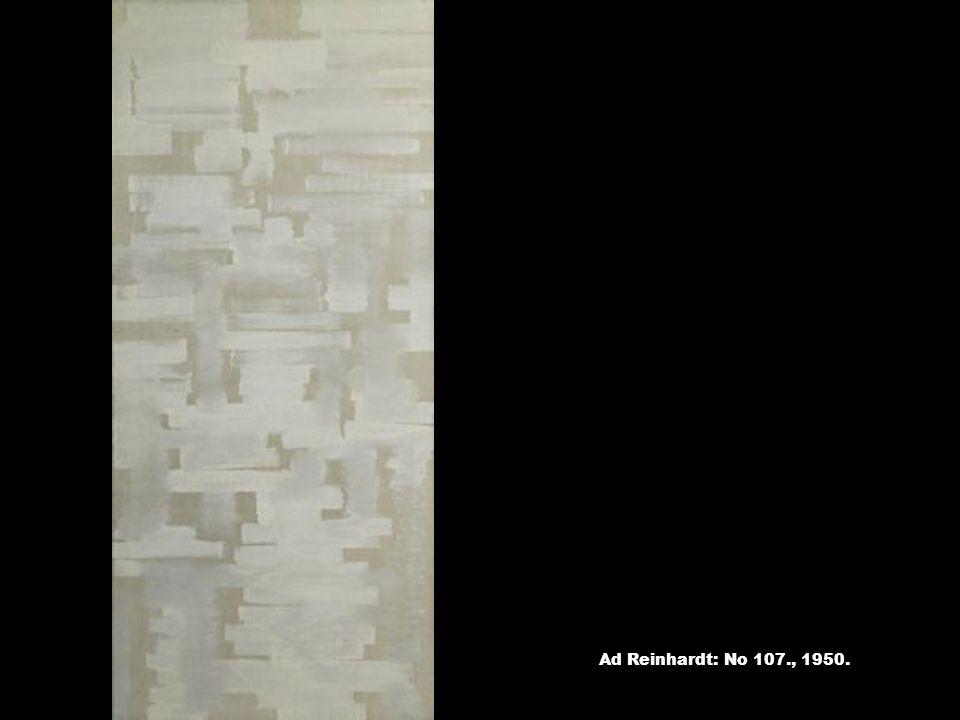 Ad Reinhardt: No 107., 1950.