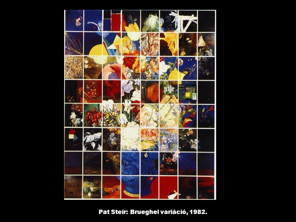 Pat Steir: Brueghel variáció, 1982.