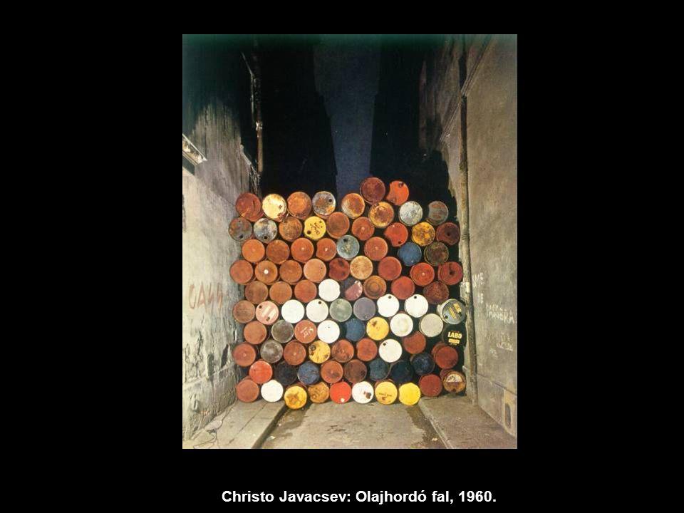 Christo Javacsev: Olajhordó fal, 1960.