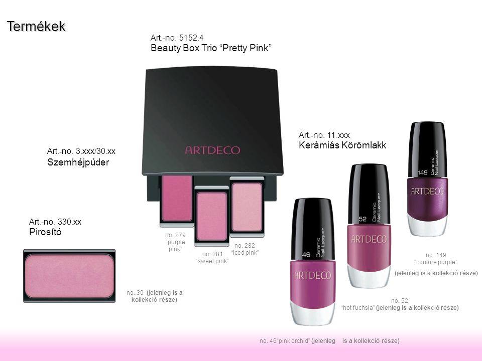 no.282 iced pink no. 281 sweet pink no. 279 purple pink Art.-no.