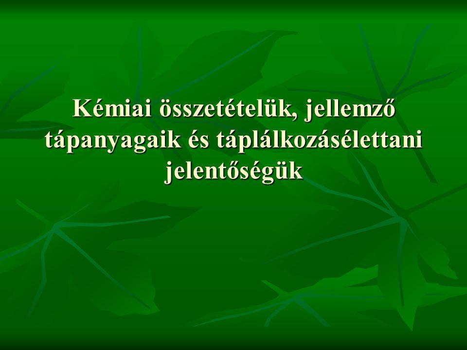 Biológiailag aktív anyagok Paradicsomban Paradicsomban Likopin Likopin Hagymafélékben Hagymafélékben Allicin Allicin Keresztesvirágúakban Keresztesvirágúakban Glükóz inolátok Glükóz inolátok Izoflavonok Izoflavonok szójában szójában