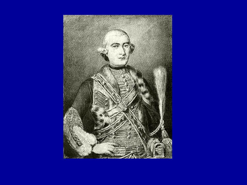 A magyar felvilágosodás első szakasza 1772-1795-ig Vezéregyénisége: Bessenyei György (1747- 1811) Mária Terézia testőre; társai: Báróczy Sándor (sokat fordít) és Barcsay Ábrahám (A kávéra, A télnek közelgetése); önművelés 1772-ben írta az Ágis tragédiája című drámáját 1773-ban kilép a testőrségből, 1780-ban katolikus hitre tér, II.