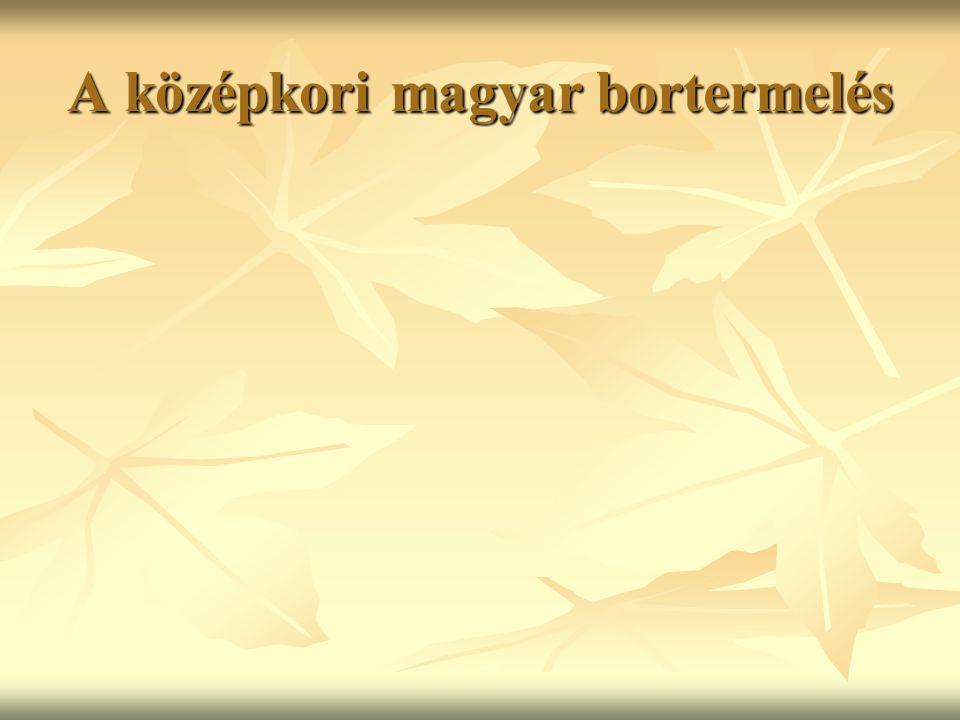 A középkori magyar bortermelés