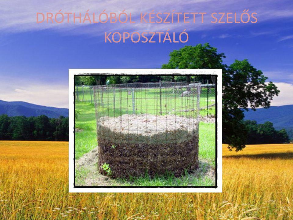 DRÓTHÁLÓBÓL KÉSZÍTETT SZELŐS KOPOSZTÁLÓ