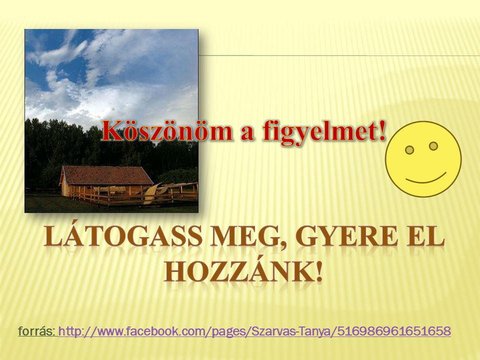 forrás: http://www.facebook.com/pages/Szarvas-Tanya/516986961651658http://www.facebook.com/pages/Szarvas-Tanya/516986961651658