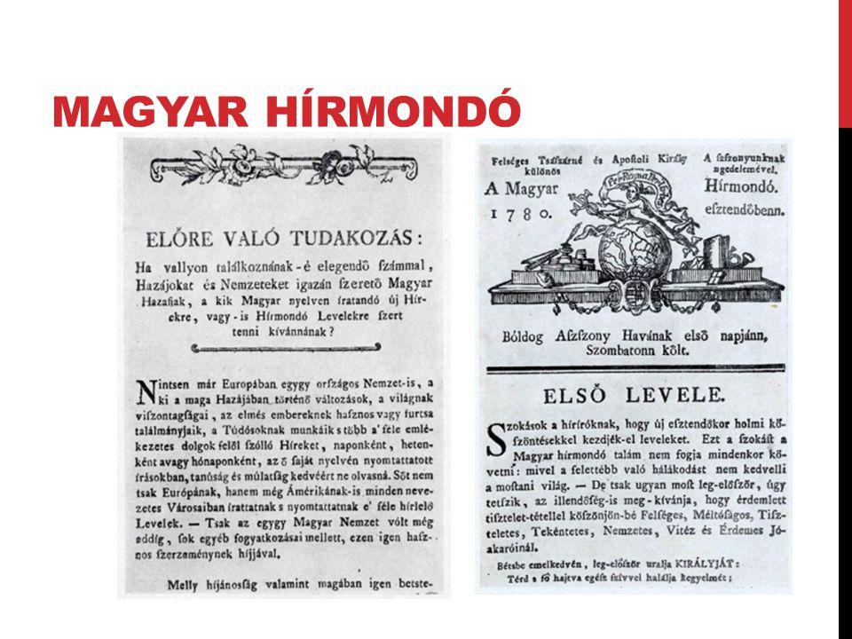 MAGYAR HÍRMONDÓ