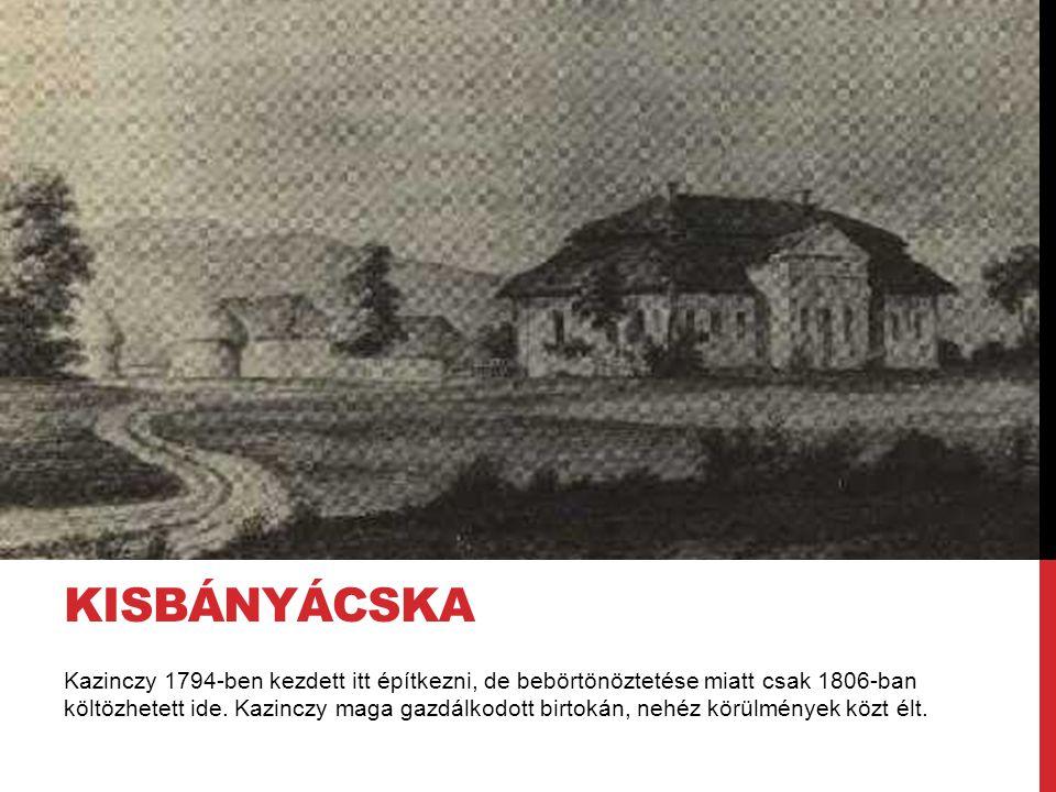 Kazinczy 1794-ben kezdett itt építkezni, de bebörtönöztetése miatt csak 1806-ban költözhetett ide. Kazinczy maga gazdálkodott birtokán, nehéz körülmén