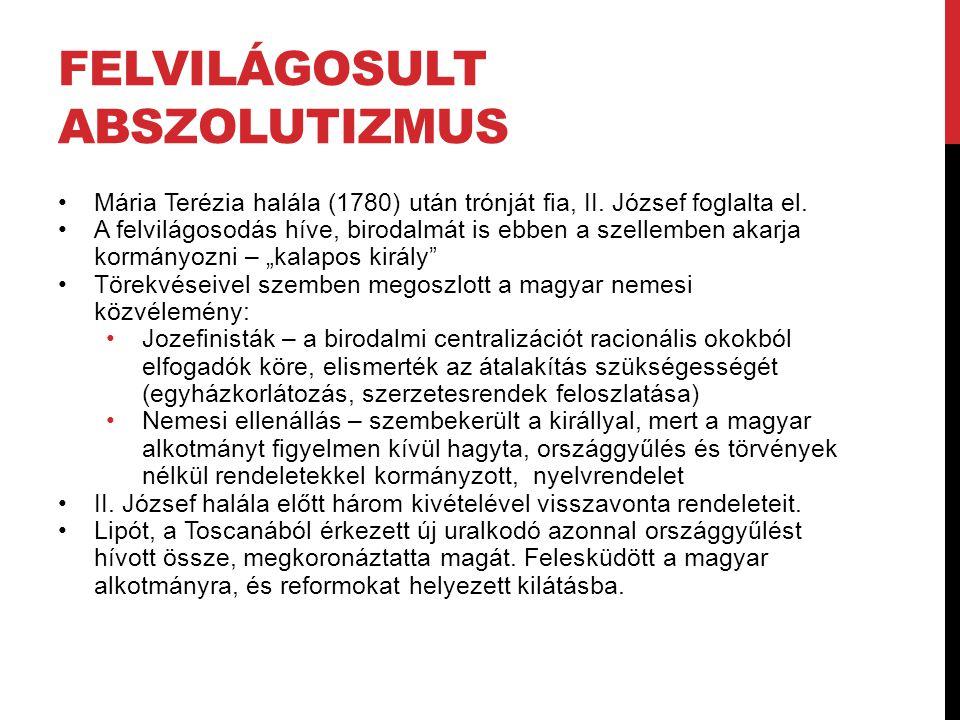 KULTURÁLIS PROGRAMJA Cél: a közjó akadálya a tudatlanság modern tudományok elterjesztése ez csak anyanyelven lehetséges magyar nyelv elmaradott művelni kell eszköze az irodalom (fordítás) Irodalom = eszköz; eredetiség nem követelmény